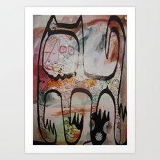 big spanish cat Art Print