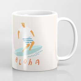 Surfer aloha poster Coffee Mug
