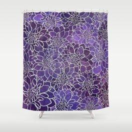 Dahlia Flower Pattern 3 Shower Curtain