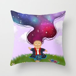 Nova Queen, Iu Mien Girl Wall Art Throw Pillow