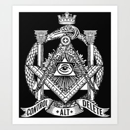 Secret Society Art Print
