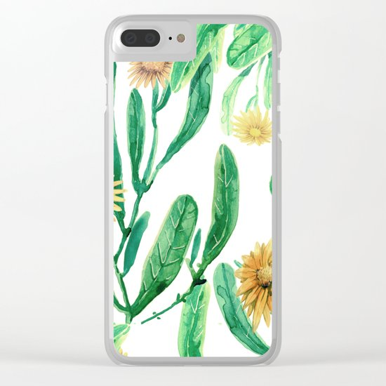 yellow flowers on sunny day Clear iPhone Case
