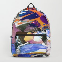 Colorful watercolor sketch Backpack