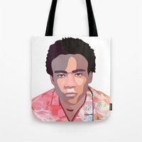 childish gambino Tote Bags featuring Childish by Grace Teaney Art