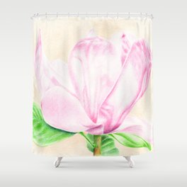 pink magnolia #2 Shower Curtain