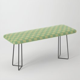 checkerboard 4(dark sea green&medium spring bud) Bench