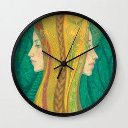 Summer, Dryads, Gaja, Forest Goddess, fantasy surreal art Wall Clock
