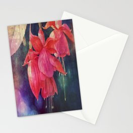Fuchsias with Bokeh Stationery Cards