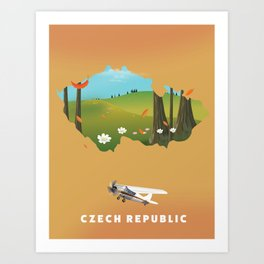 Czech republic Art Print