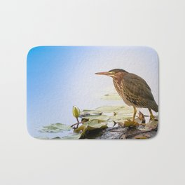 Crowned Night-Heron- Hammond pond Bath Mat