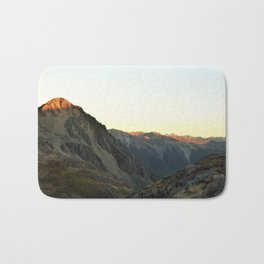 Sunset in Nelson Lakes National Park Bath Mat