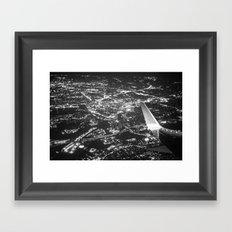 Fly Over Cities Framed Art Print