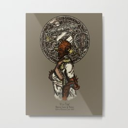 It's a (Steampunk) Trap! Metal Print