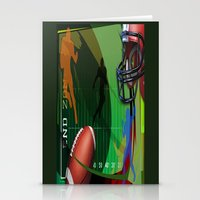 football Stationery Cards featuring Football by Robin Curtiss