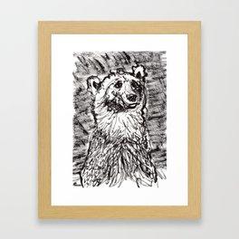 Quizzical bear Framed Art Print