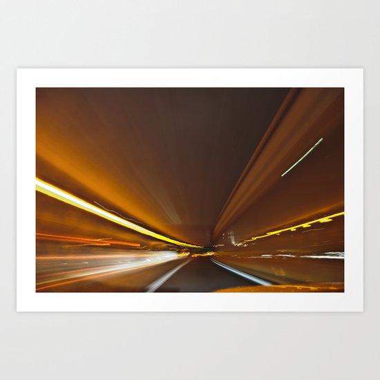 Traffic in warp speed Art Print