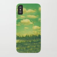 regina mills iPhone & iPod Cases featuring Wind Mills by Jake Holland