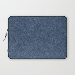 Blue Topographical Map Laptop Sleeve