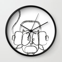 partyowl sketch Wall Clock