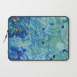 Blue Puddle Obstructing the Path of the Yellow Brick Road by annmariescreations Laptop Sleeve