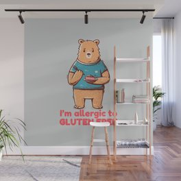 I'm allergic of gluten free Wall Mural