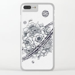 Flowery Planet. Clear iPhone Case