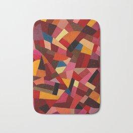 Komposition 1940 Mid Century Modern Abstract Geometric Colorful Pattern Painting Otto Freundlich Bath Mat