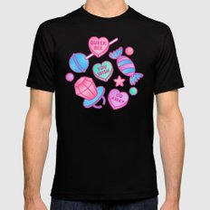 Candy Candy Mens Fitted Tee Black SMALL