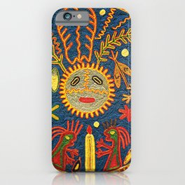 Peyote Sun Ritual Huichol iPhone Case