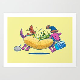 Chicago Dog: Lunch Pail Art Print