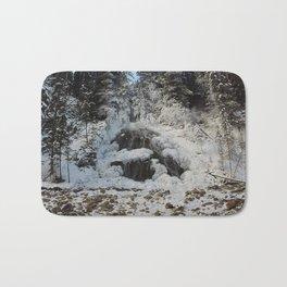 Bridal Veil Falls in Jasper National Park, Alberta Bath Mat