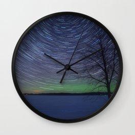 Cotton Lake Star Trails Wall Clock