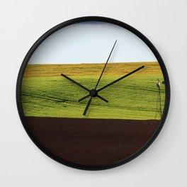 Canola Field Wall Clock
