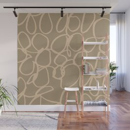 Hand drawn doodle patterns in Earthy Color Theme Wall Mural
