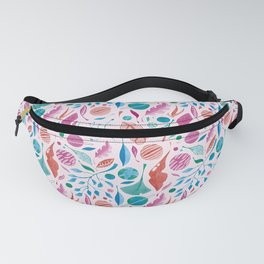 Leaves and planets watercolor Fanny Pack