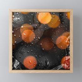 Raindrops and bokeh art Framed Mini Art Print
