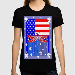Red-White & Blue 4th of July Celebration Art T-shirt