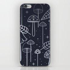 Silver Mushrooms iPhone & iPod Skin