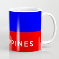philippines Mugs featuring flag of Philippines by tony tudor