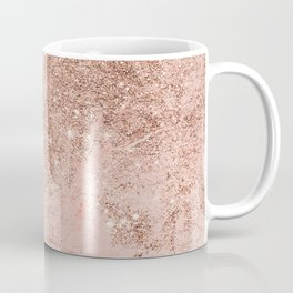 Girly blush coral faux rose gold glitter marble Coffee Mug
