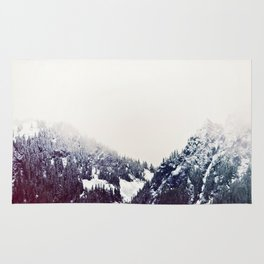 Vintage Snowy Mountain Rug