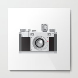 Vintage 35mm Film Camera Retro Style Metal Print