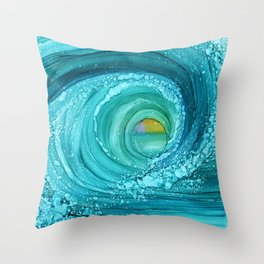 Sun Wave Throw Pillow