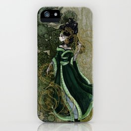Gold Gilded Leda: A Bollywood Geisha iPhone Case