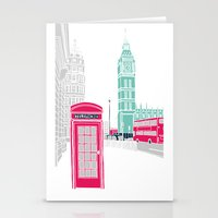 london Stationery Cards featuring London  by bluebutton studio
