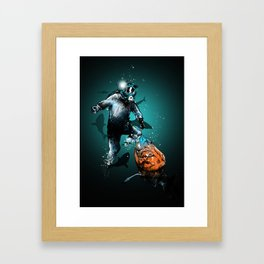 SHARK ATTACK Framed Art Print