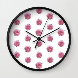 Splendid English Roses Wall Clock
