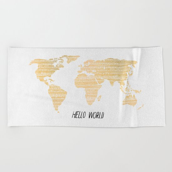 Hello World Beach Towel