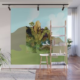 Love Under The Mountain Wall Mural