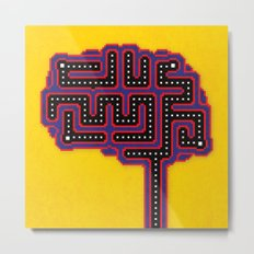 Gamer Brain Metal Print